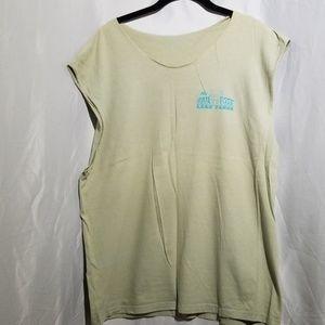 Novelty t shirt Men's sleeveless neckless